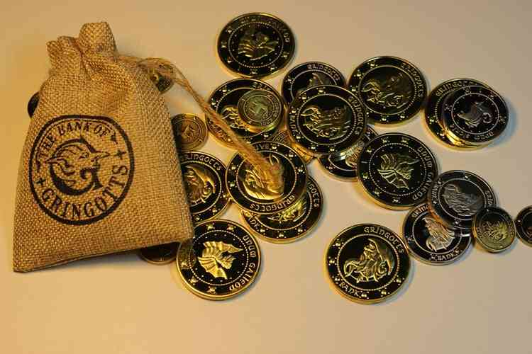 Galleons London Knut, Gold Coin Bag Toy-