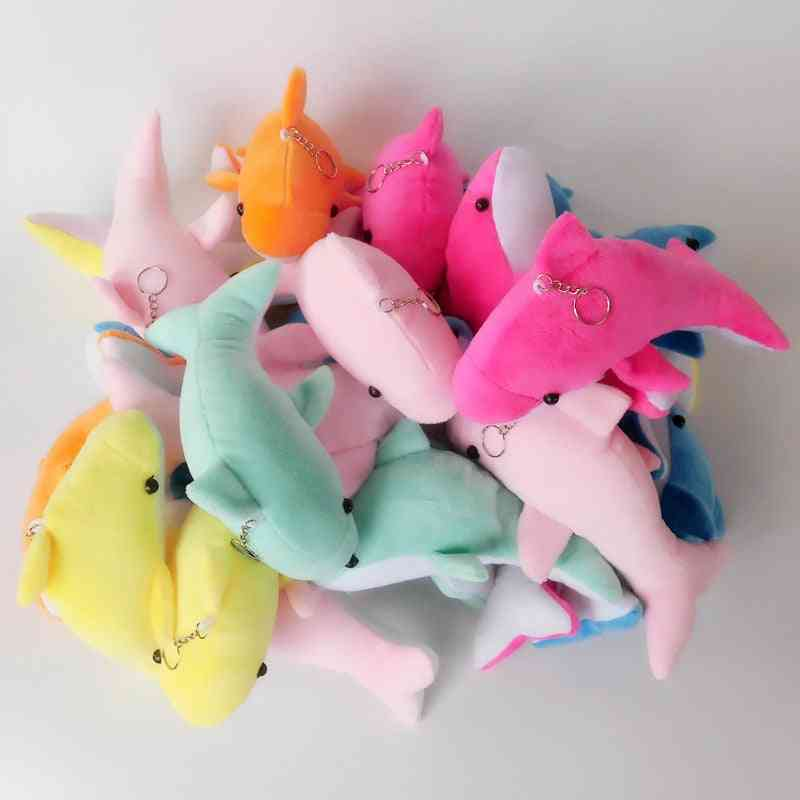 2pcs 10cm Stuffed Animals Plush Keychains Dolphin Plush Toy- Cute Educational For Llavero Kawaii Oyuncak (10 Cm 2 Pcs)