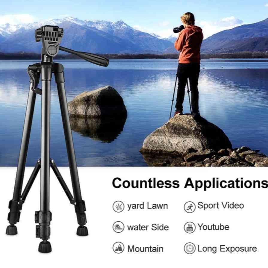 Portable Camera Tripod For Phone, Canon, Nikon, Sony Dslr Camera Camcorder Universal Adjustable Tripod Stand