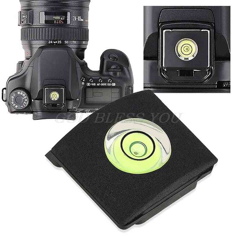 Flash Hot Shoe Cover Cap Bubble Spirit Level For Canon, Nikon Olympus Camera