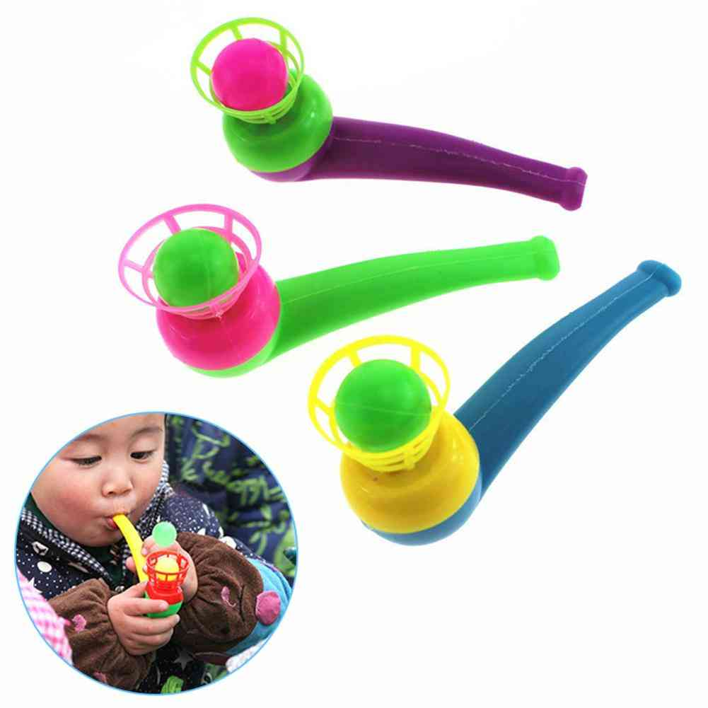 Funny Sports Kids Blowing Ball Toy