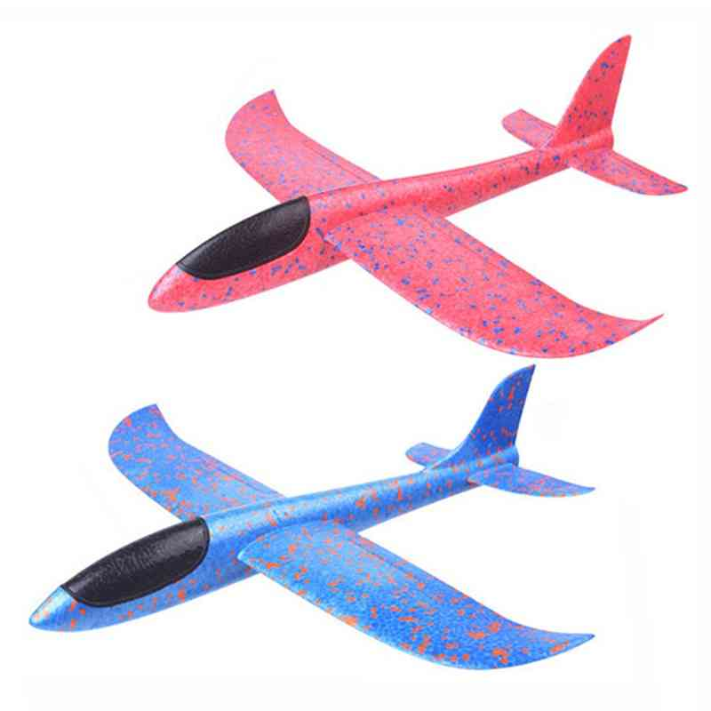 Children's Hand Throwing Flying Toy, Large Glider Aircraft Foam Plastic Airplane Model Toy