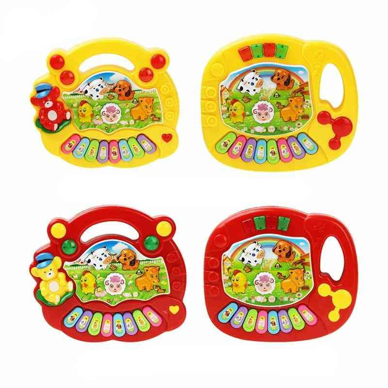 2 Types Animal Farm Design Piano Keyboard-musical Instrument Toy