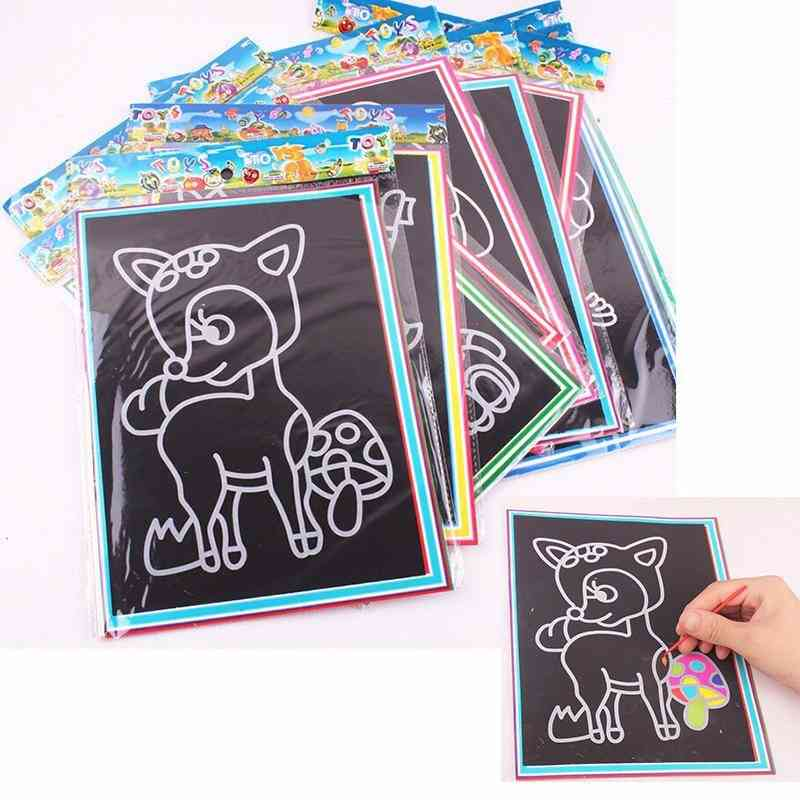 Scratch Art Painting Cards-learning Drawing