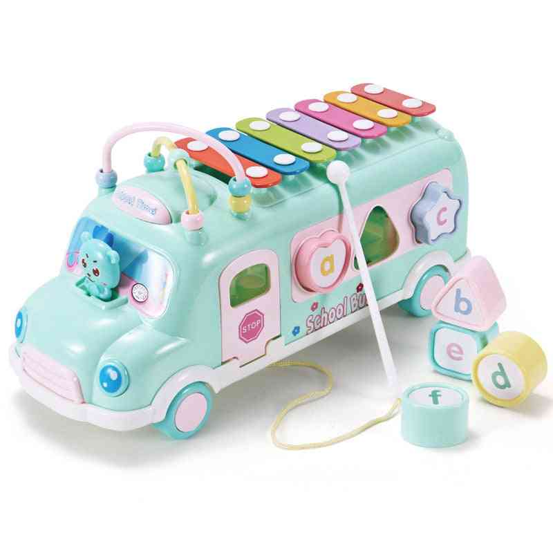 Plastic Xylophone Bus Car Music Instrument Toy
