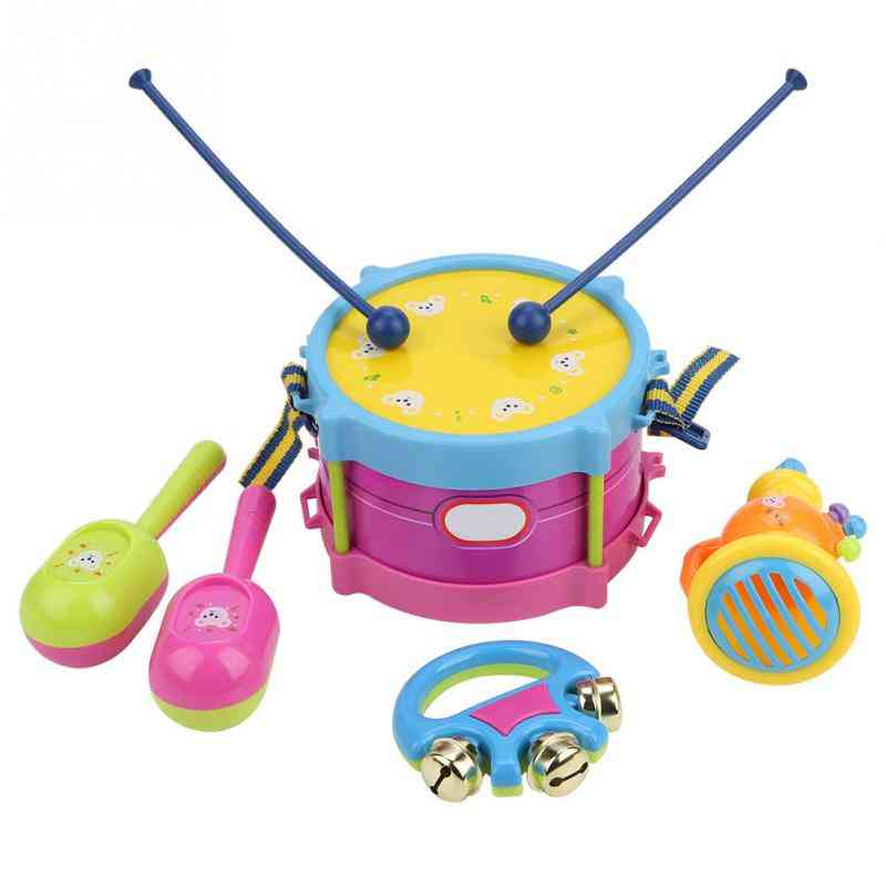 Children Drum Trumpet Toy, Music Percussion Instrument Band Kit Early Learning Educational Toy For Baby, Kids  (multicolor)
