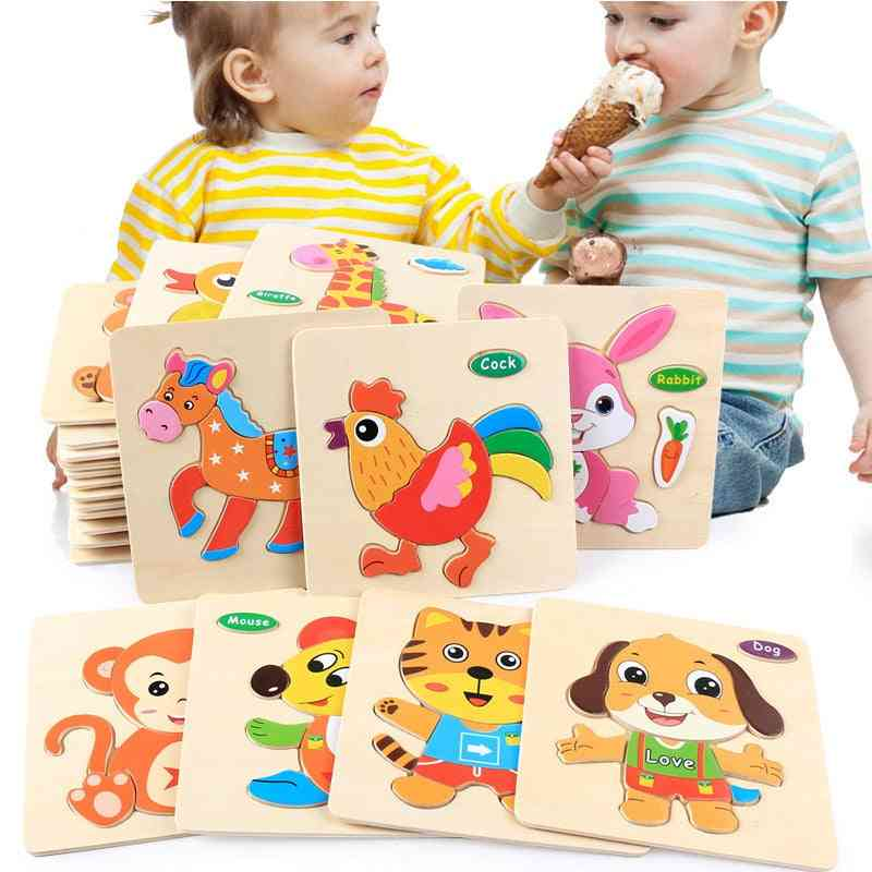 3d Wooden Puzzle Early Learning Cognitive Fun Wooden Toy