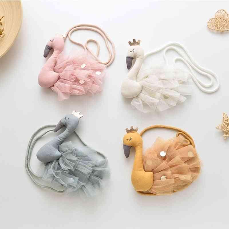 Fabric Diagonal - Cute Animal Coin Purse, Shoulder Messenger Bag