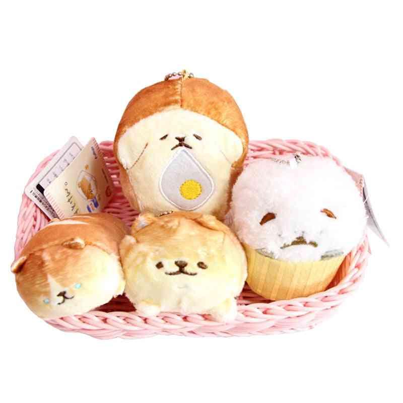 Bread Dog Plush Key Chain Toy