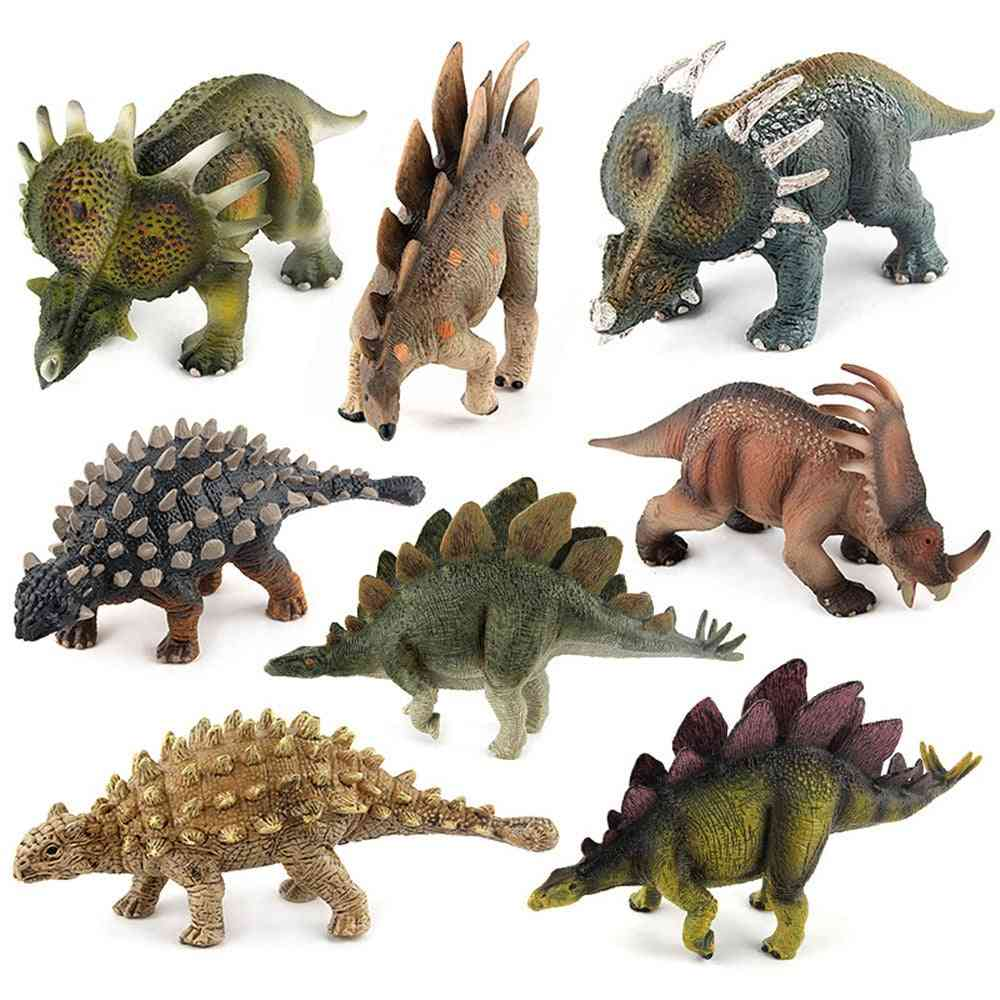 8 Style Big Size Jurassic Wild Life Dinosaur Toy Set, Plastic Play World Park Dinosaur Model Action Figures Kids Boy