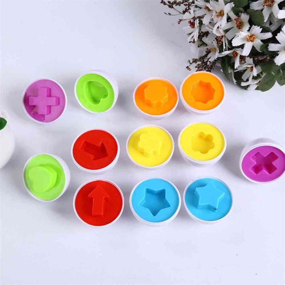 6pcs Matching Eggs - Recognition Match For Toddlers