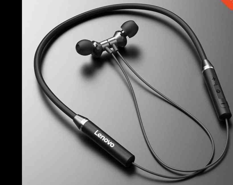 Earphone Bluetooth 5.0 Wireless Headset, Magnetic Neckband Earphones, Ipx5 Waterproof Sport Earbud With Noise Cancelling Mic