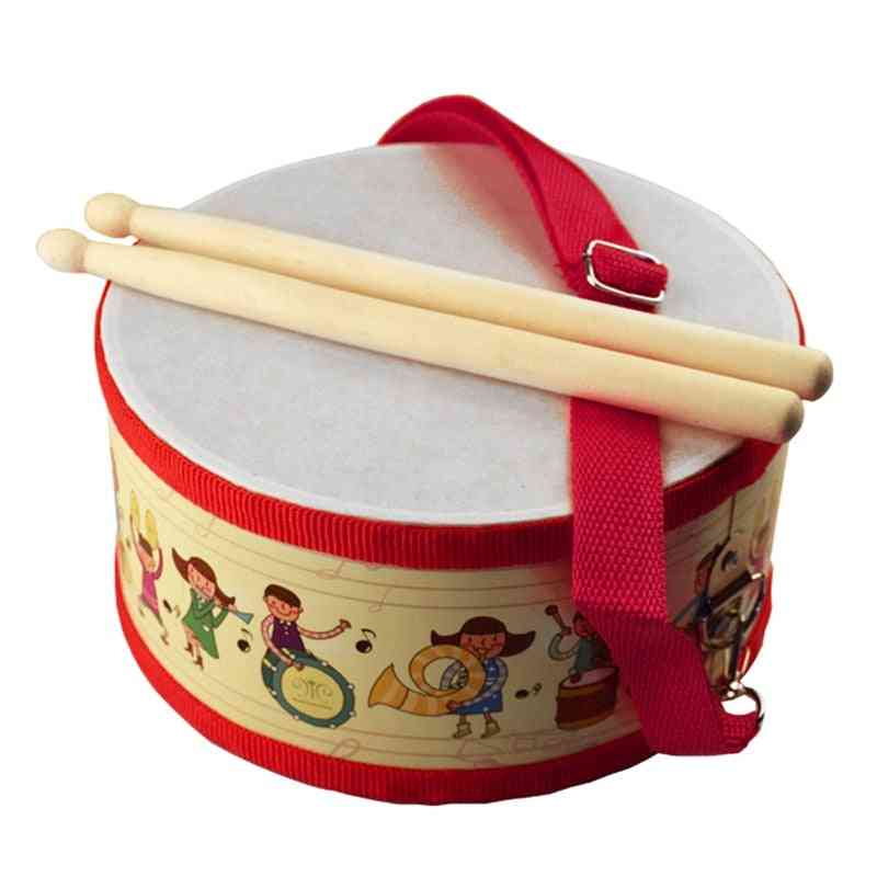 Drum Wood Kids Early Educational Musical Instrument - Beat Instrument Hand Drum