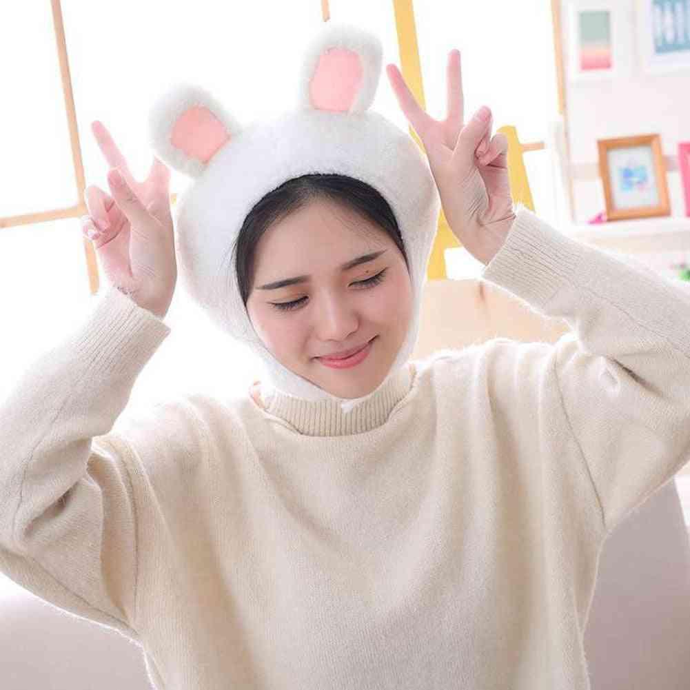 Plush Animal Earflap - Warm Cap / Hat Costume