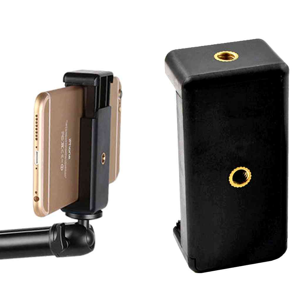 Monopod-holder-clip For Mobile Bracket For Camera, Tripod Mount Holder Stand For Iphone Samsung-xiaomi Phone