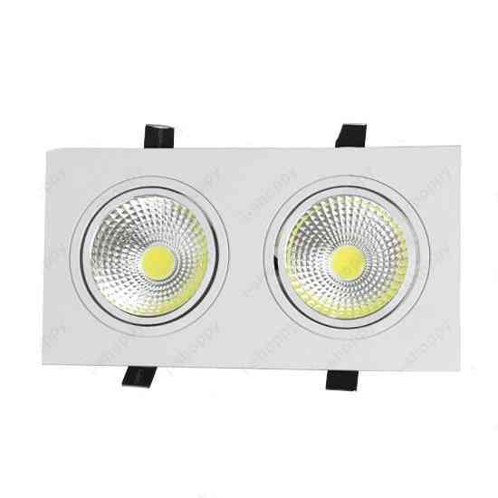 Led Recessed Light - Dual Head, Grille Lamp White Shell