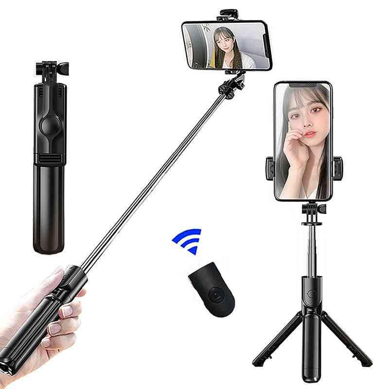 Wireless Bluetooth Selfie Stick - Expandable Monopod Mini Tripod