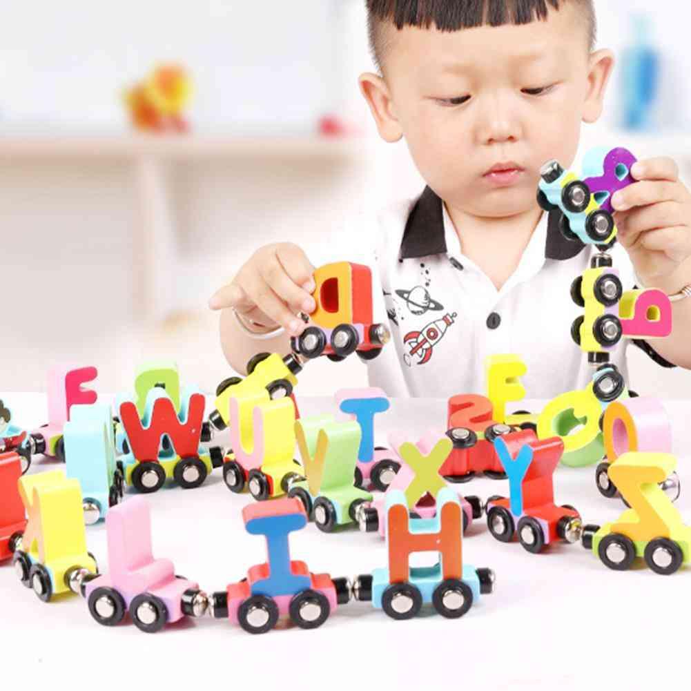 Magnetic Number, Alphabet Animal - Mini Train / Cars Education Kids Toy