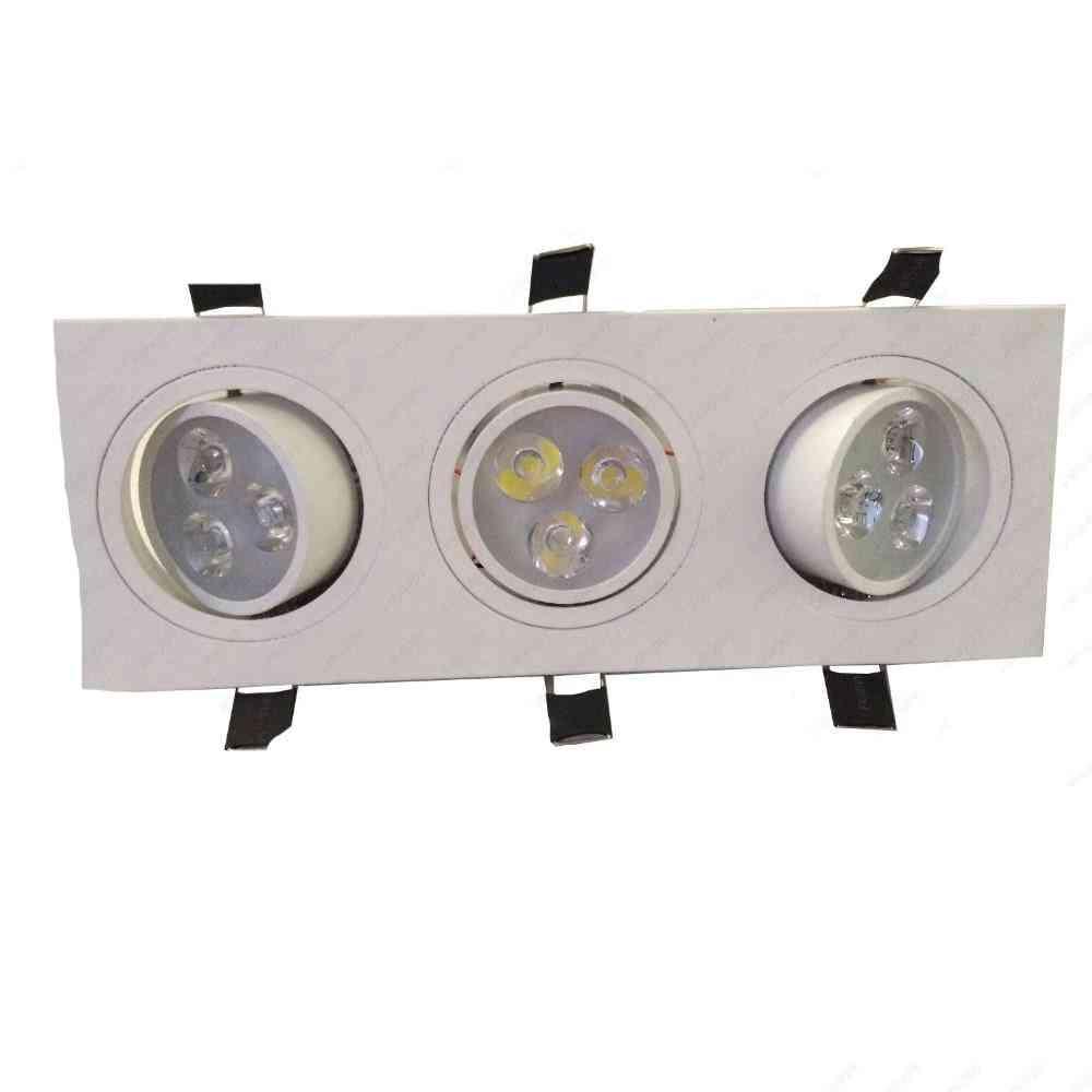 Led Ceiling Light, Rectangle Triple Head Lamp