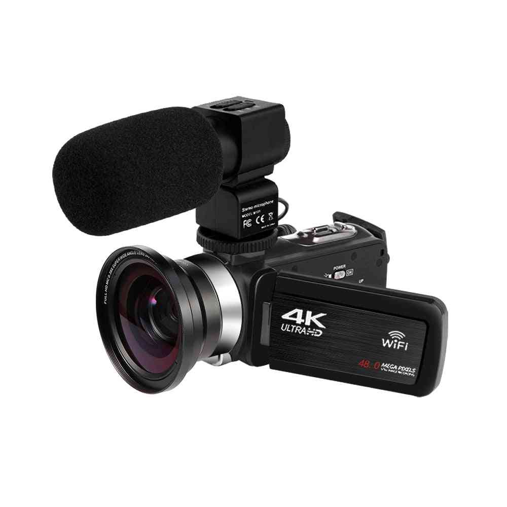 Camcorder-4k Wifi 48mp Built-in Fill Light Touch Screen Vlogging For Youtube Video Digital Camera