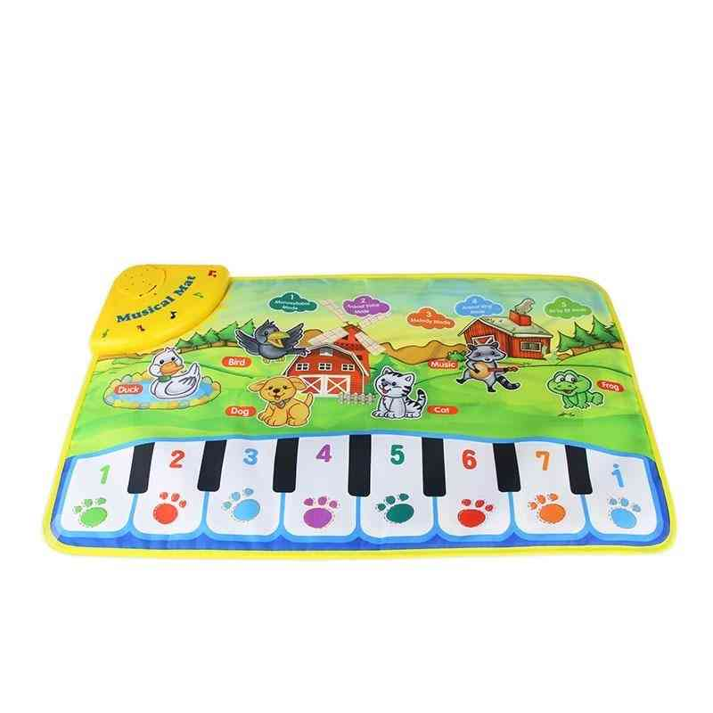 Piano Musical Play Mats Kids, Learning Blanket Rug Musical Instrument Mat Educational