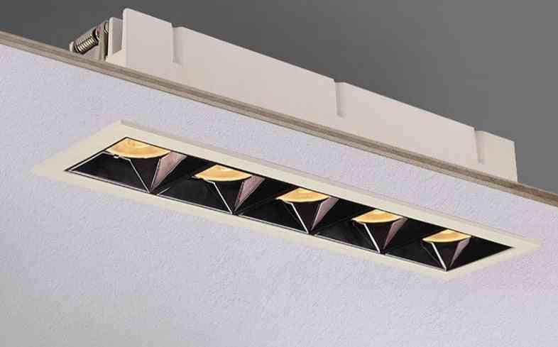 Led Grille Ceiling Spot Light - Simple Embedded Downlight Line