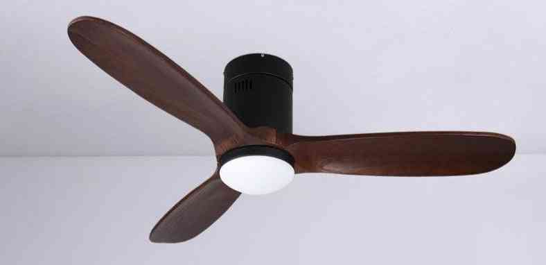 48 Inch Brown Vintage Wooden Ceiling Fan With Light