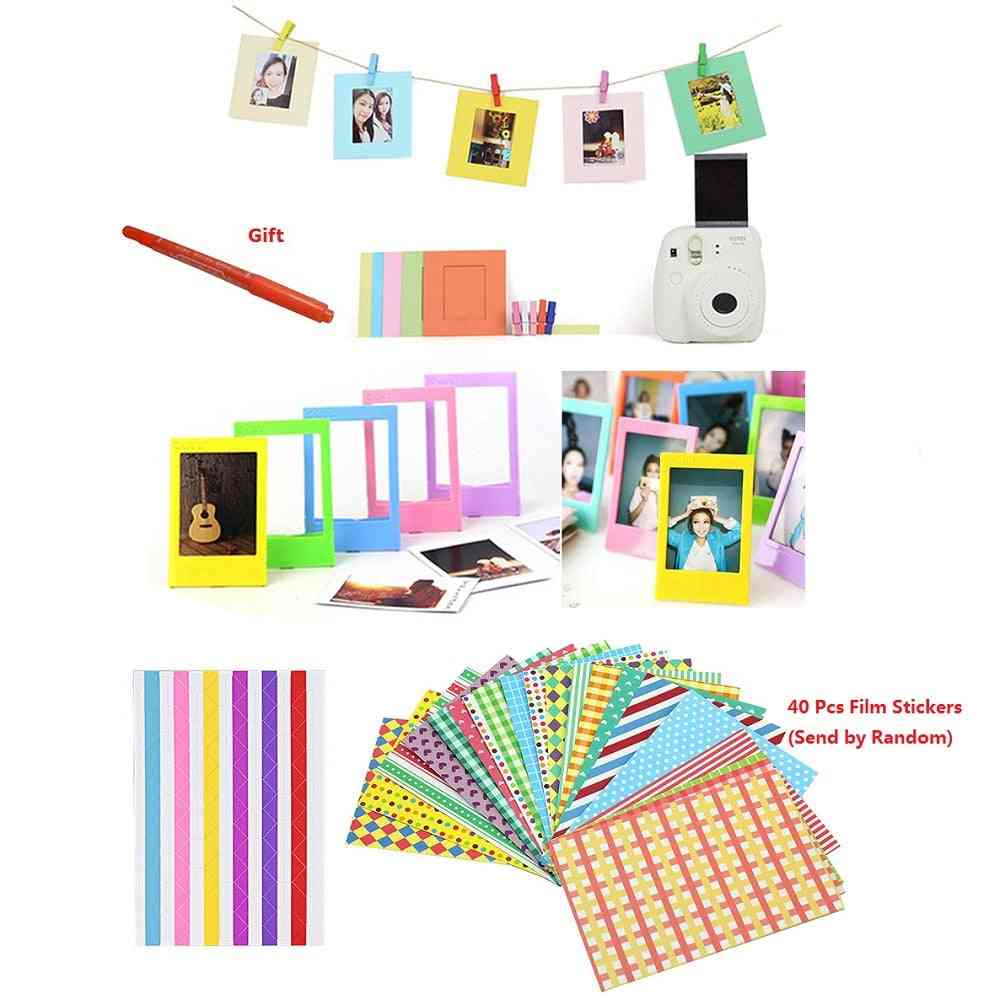 Marker Pen + Color Stickers + Photo Frames Camera Sp-1 & Films Paper