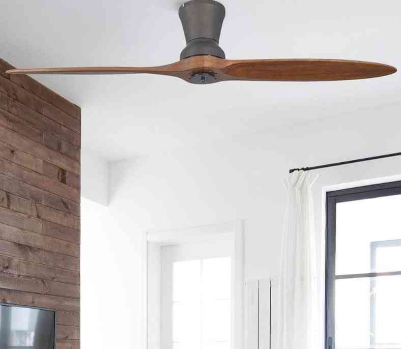 Modern Led - Village, Industrial Wooden Ceiling Fan With Lights