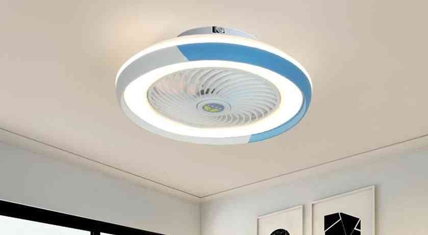 Modern Smart Ceiling Fan With Led Light And Remote Control