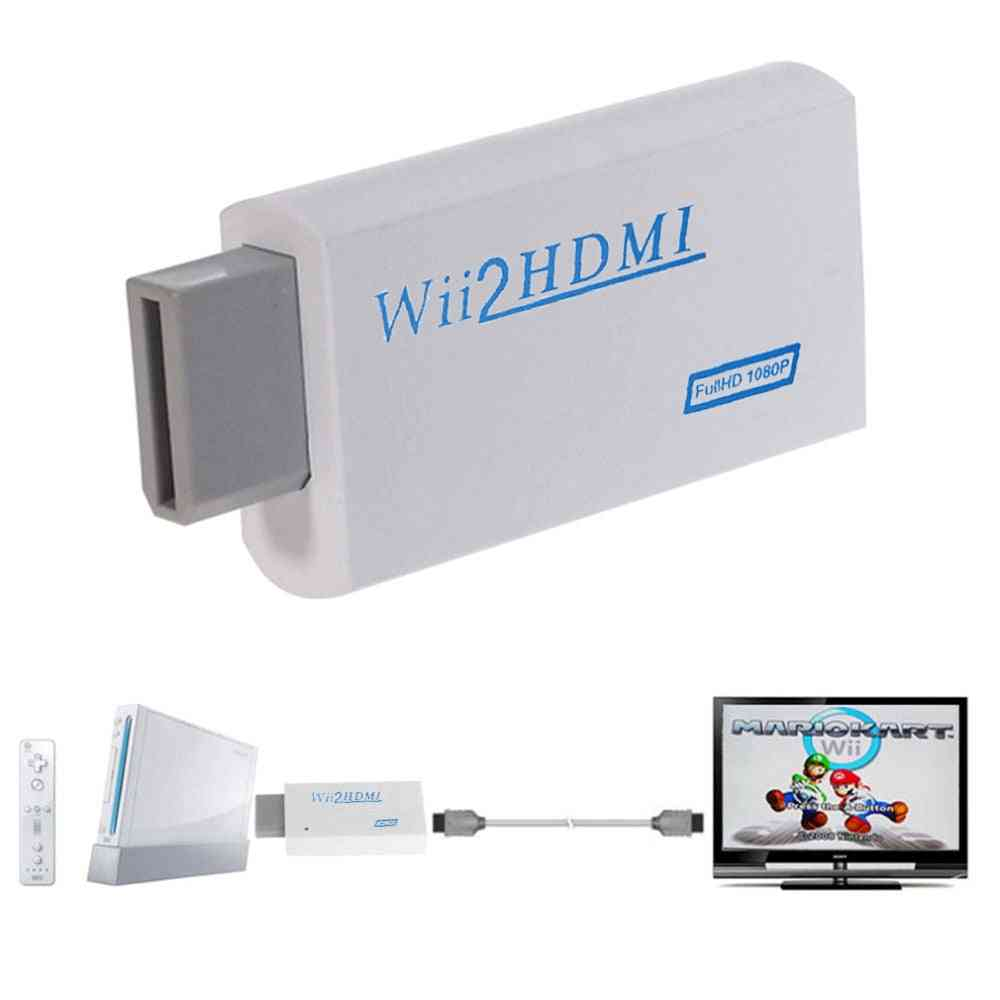 Wii To Hdmi 1080p Upscaling Converter-audio Video Output