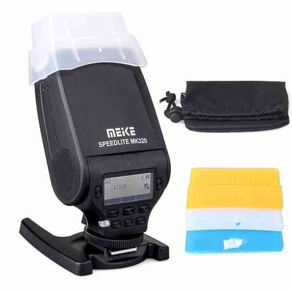 Mk-320 Flash Speedlite For Sony With Stand And Sleeve