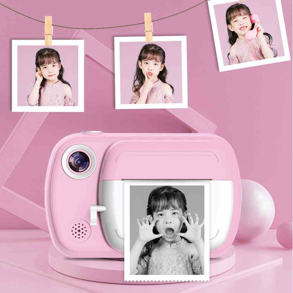 Instant Print 1080p Hd With Thermal Photo Paper Camera Toy