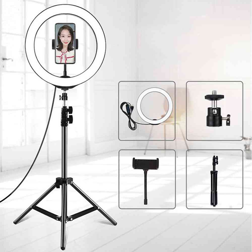 Led Selfie Ring Light With Tripod And Remote Control