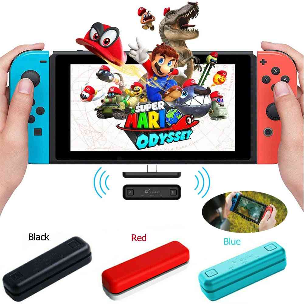 Route Air Switch Bluetooth Adapter, Wireless Audio Transmitter W/aptx Low Latency Compatible For Nintendo Switch & Switch Lite