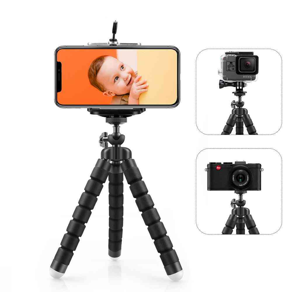 Flexible Mini Tripod And Phone Clip For Smartphone And Gopro Hero Camera