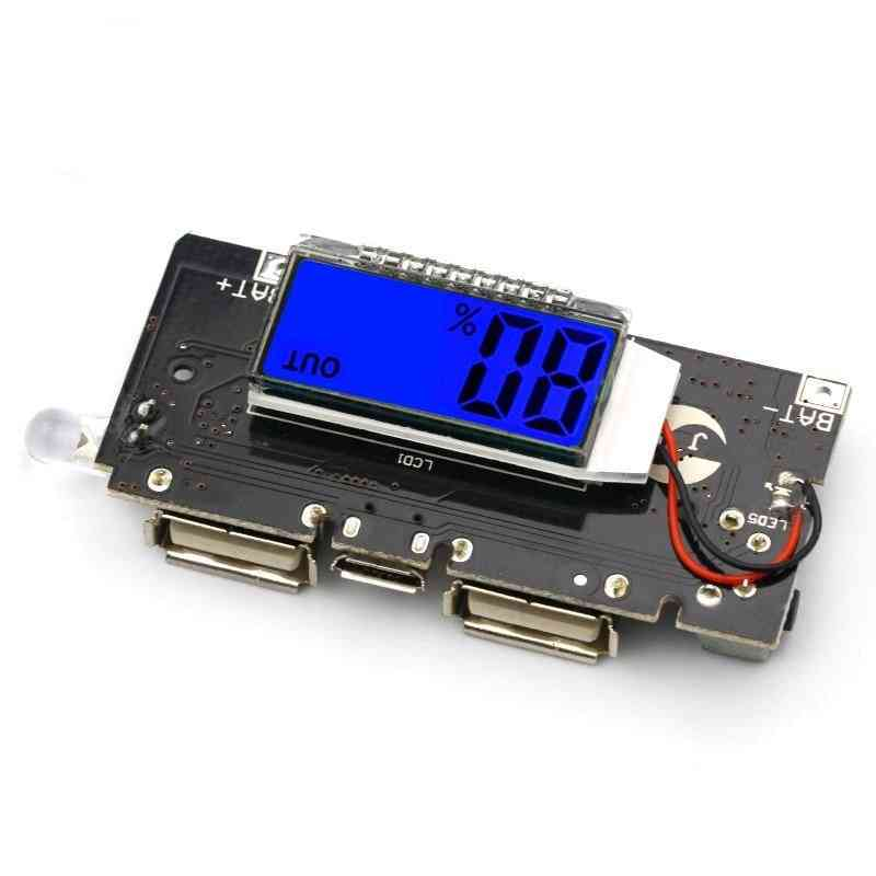 Dual Usb, 5v 1a 2.1a Mobile Power Bank 18650 Lithium Battery Charger Module