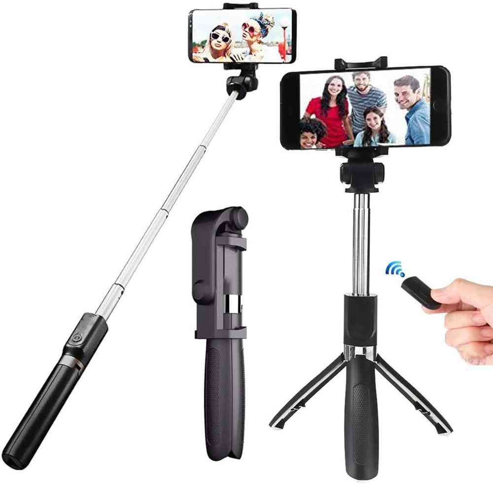 3 In 1 Wireless Bluetooth, Extendable Monopod - Foldable Tripod With Remote, Selfie Stick