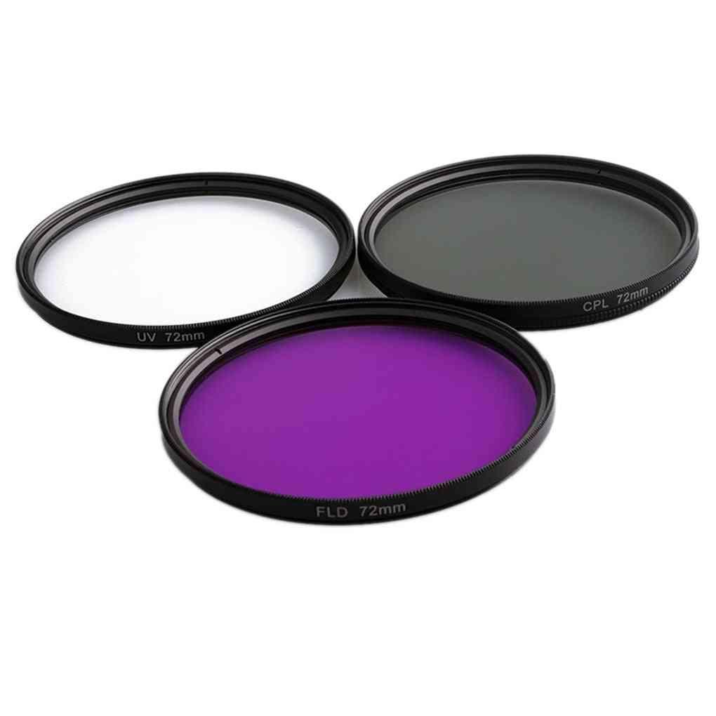 3 In 1 Lens Filter-set With Bag Uv+cpl+fld