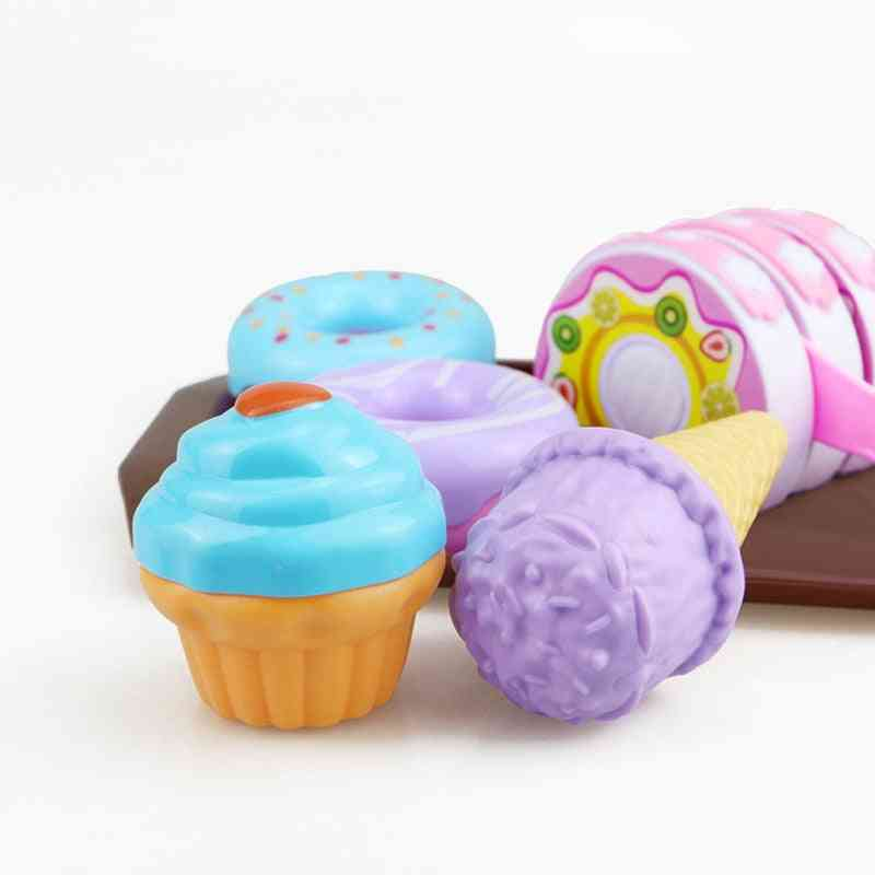 Plastic Simulation Food, Dessert Pretend Play -early Education Toy