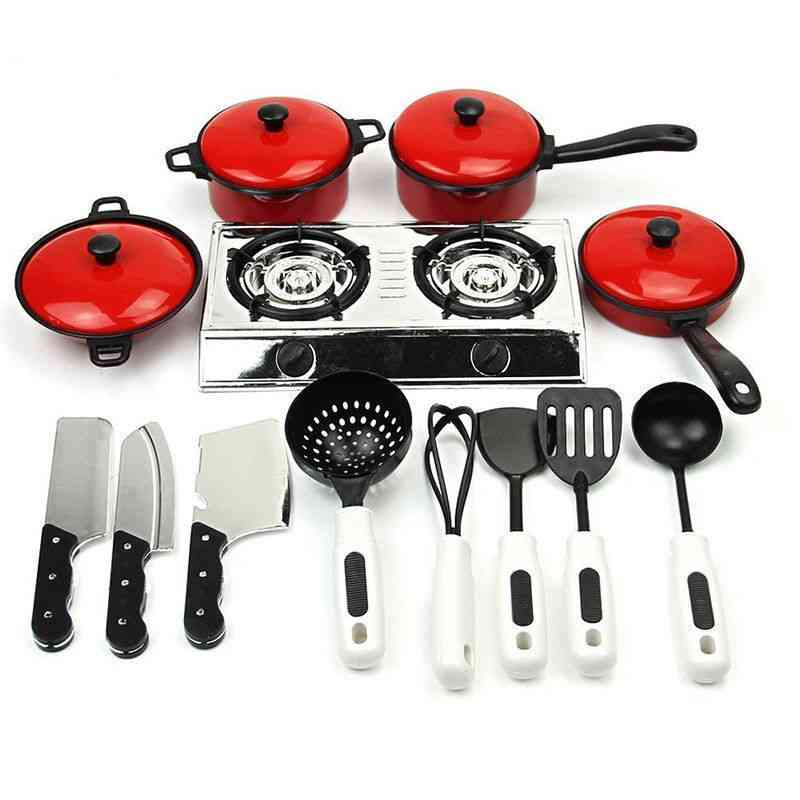 13pcs Of Set Of Kitchen Cooking Utensils, Play House Toy