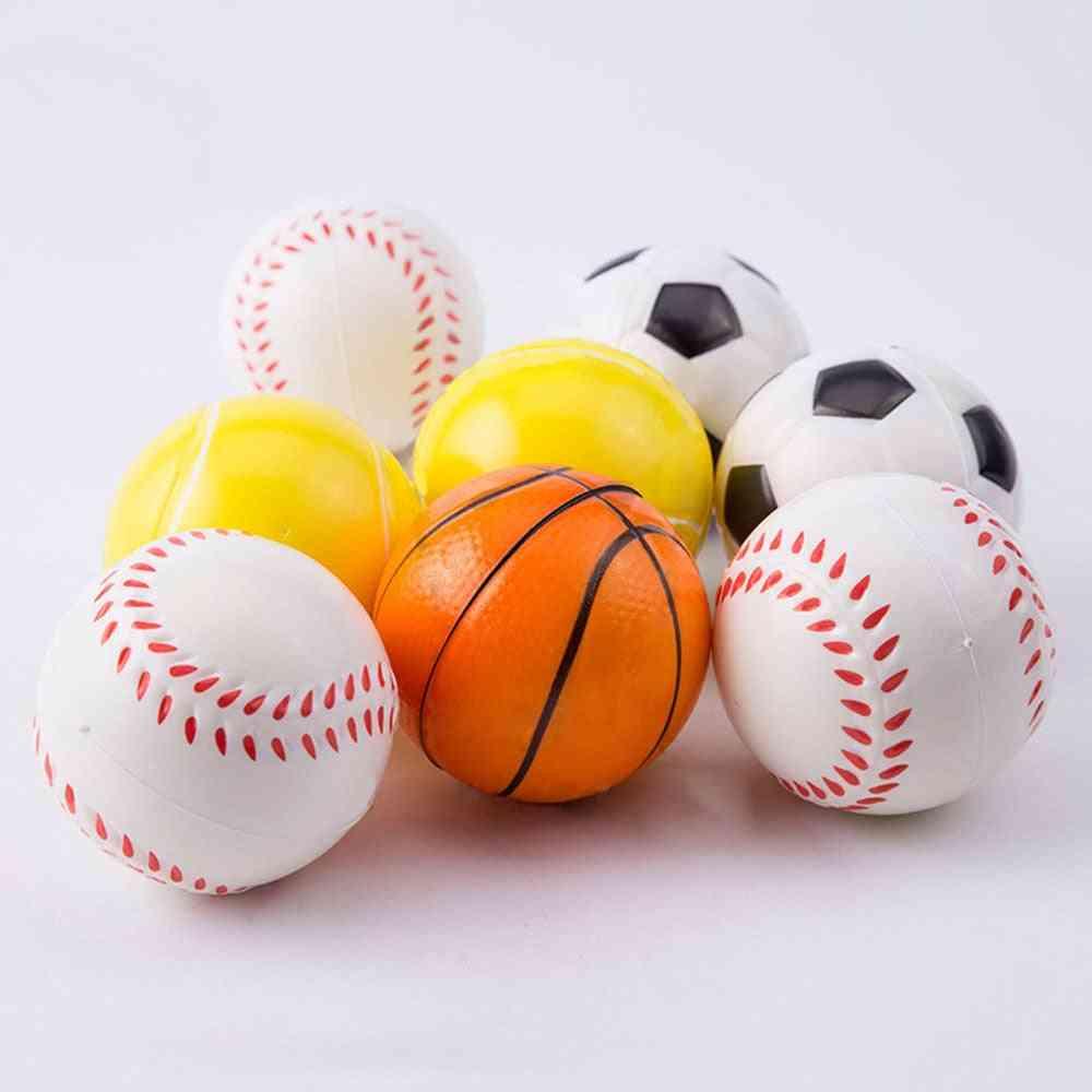 Basketball, Baseball, Football, Tennis Exercise, Soft Elastic Stress Reliever Ball
