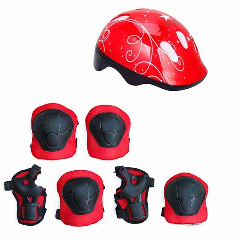 Children's Helmet Protective Gear Set, Elbow Pads Bicycle Skateboard Ice Skate Roller Knee
