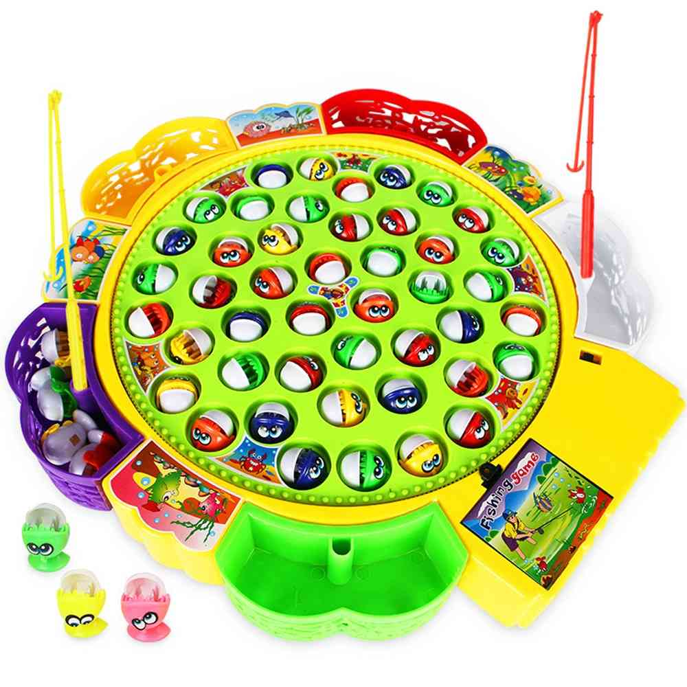 Electric Rotating And Magnetic Fishing Game Set