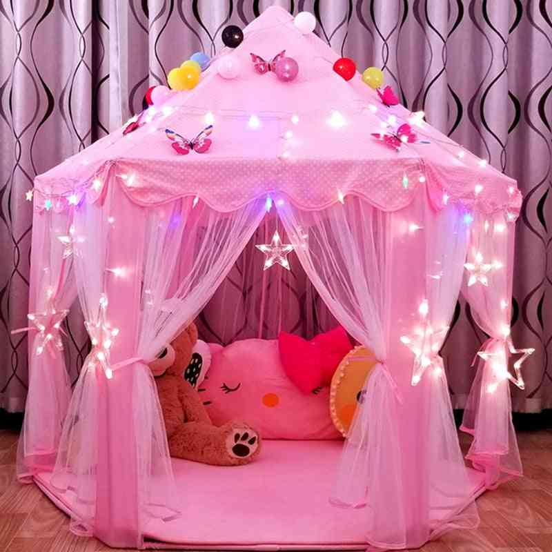 Princess Girl Castle Play House - Portable Kids Toy Tent