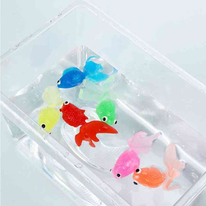 Kids Soft Rubber Gold Fish Bath - Bathroom Water Play Swimming Beach