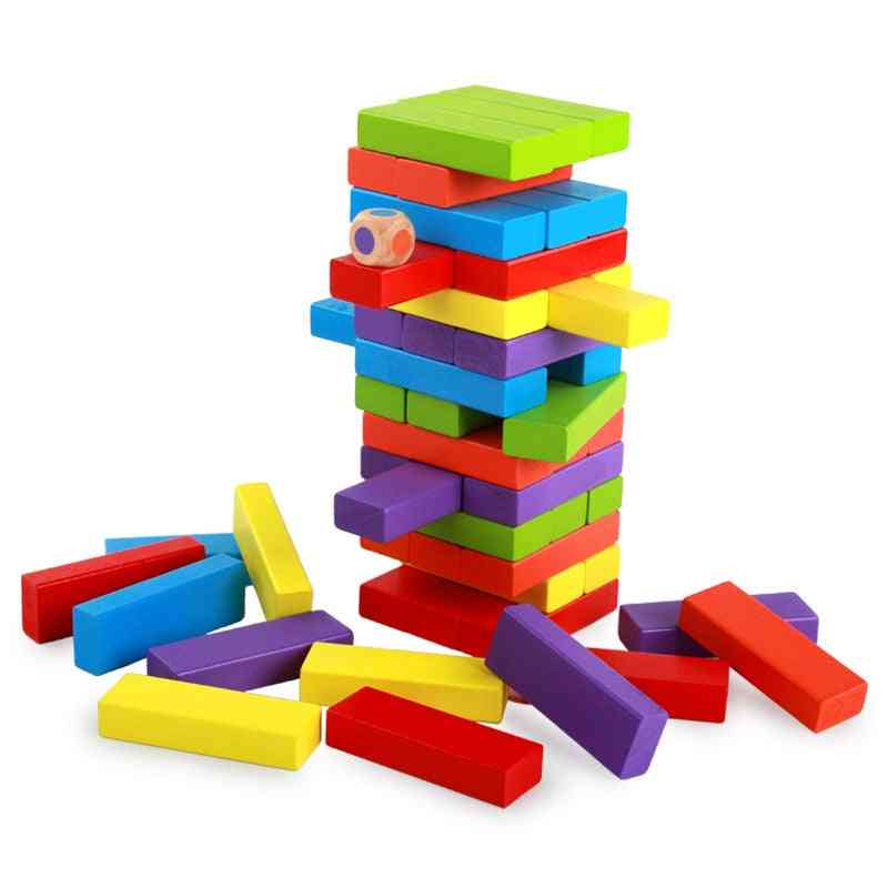 Mini Wooden Jenga Building Block Toy