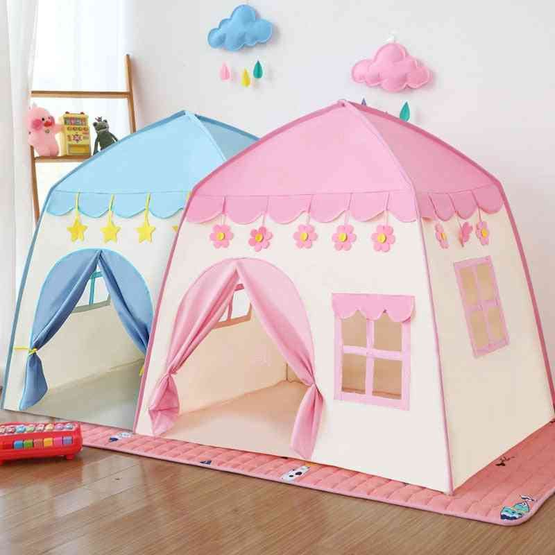 Kids Castle Tent Play House - Large Room Flowers Blossoming Indoor Outdoor Big Teepee