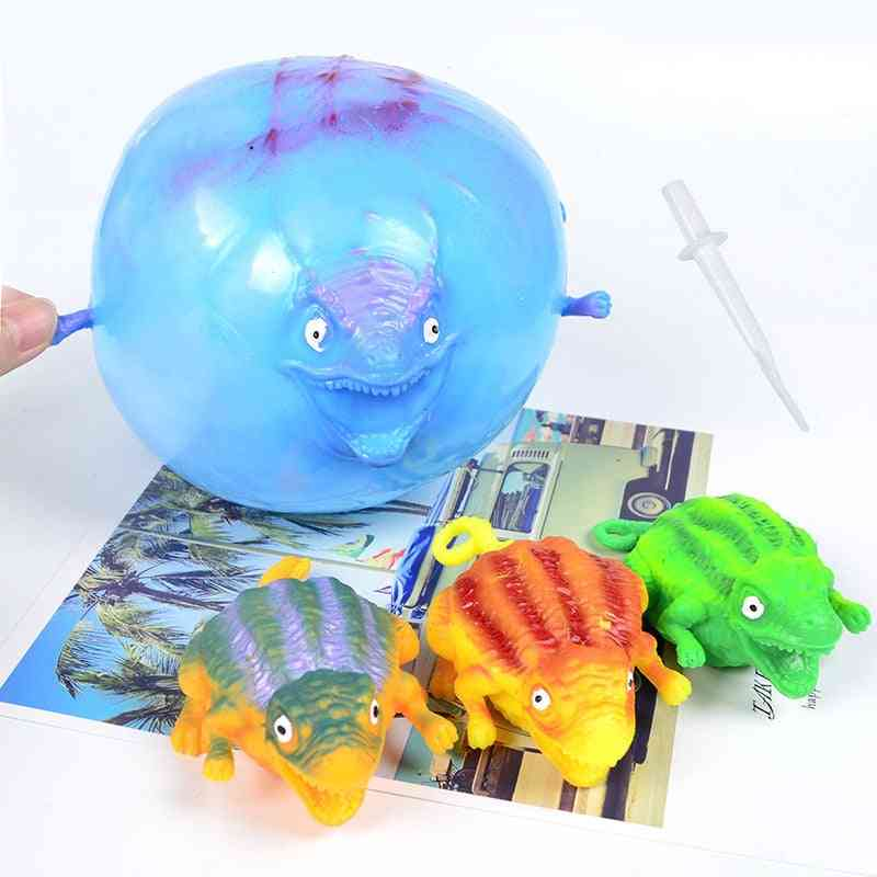 Funny Blowing Dinosaur Anxiety Stress Relief Inflatable Balloon Squeeze Ball Kids