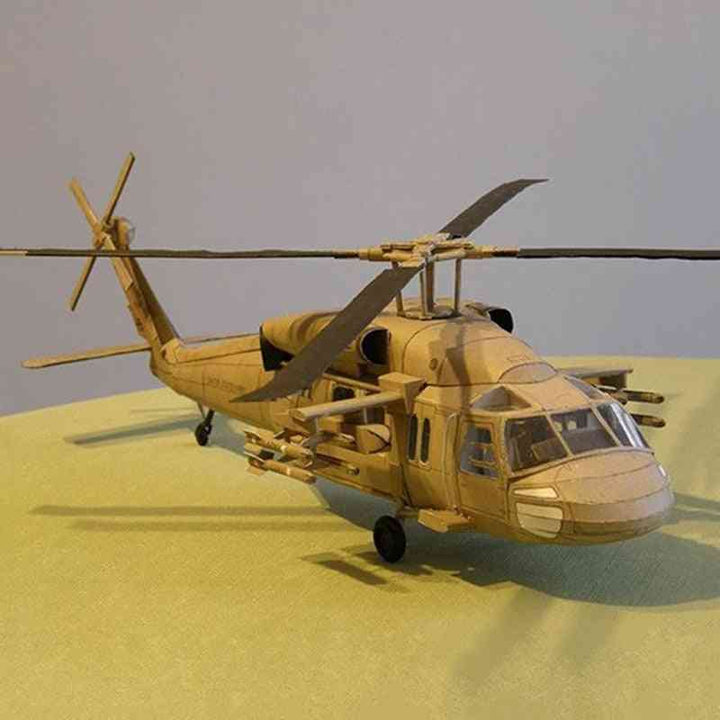 Helicopter Diy 3d Paper Card Model Building Set Construction Toy